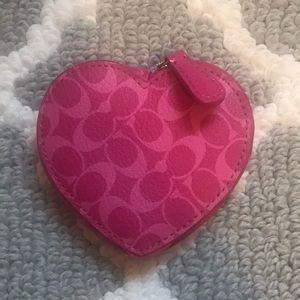 Cute heart-shaped Coach coin purse